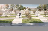 PSD公园景观效果图