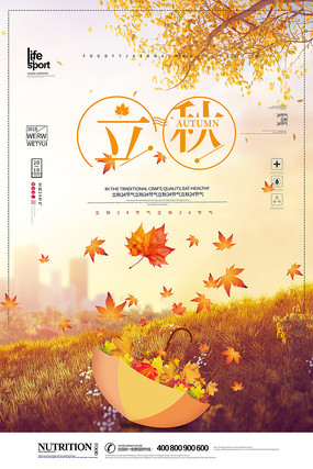 大气时尚立秋24节气海报