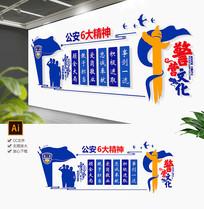 蓝色新时代神公安六大精文化墙