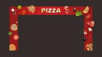 披萨暖场活动门头