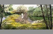 湿地园林景观效果图