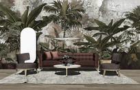 现代时尚客厅布艺沙发组合