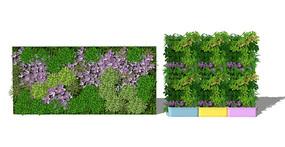 植物墙绿植墙  背景墙 skp