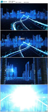 大气震撼科技城市AE文字片头模板