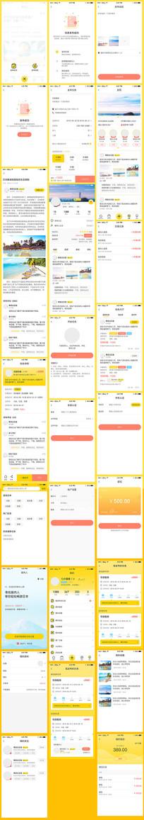 全套日本旅游景点app界面