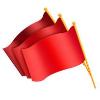 原创元素国庆手绘红旗