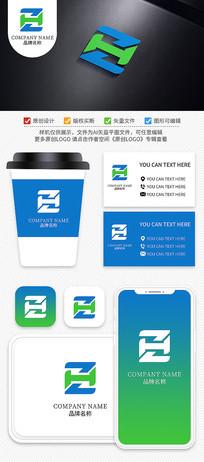 ZH字母能源材料化工科技LOGO