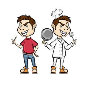 原创元素-厨师卡通形象