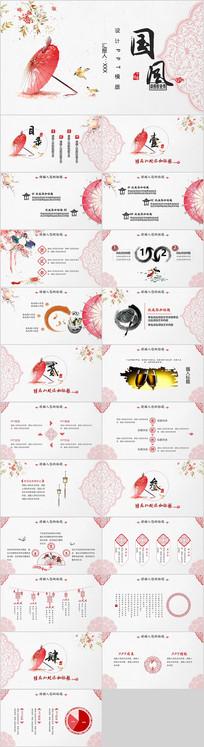 中国风剪纸2019猪年年终总结计划PPT
