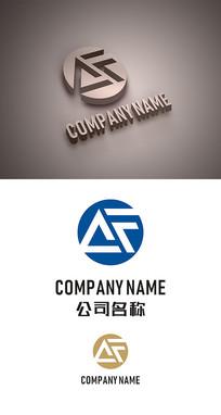 AF字母标志LOGO设计