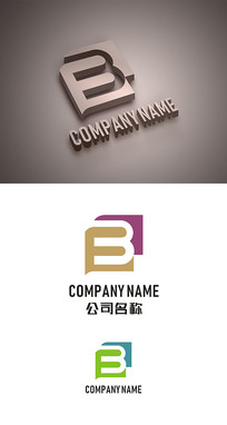 B字母标志LOGO设计