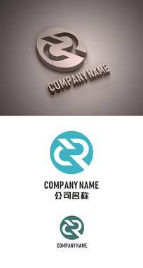 CR字母标志LOGO设计