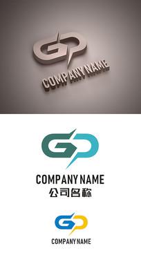 GP字母标志LOGO设计