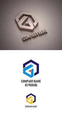 G字母标志LOGO设计 CDR