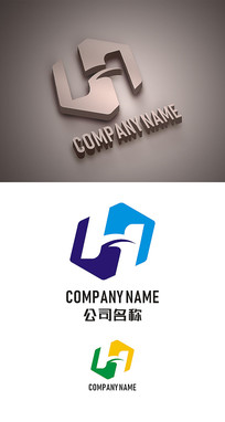 H字母标志LOGO设计 CDR