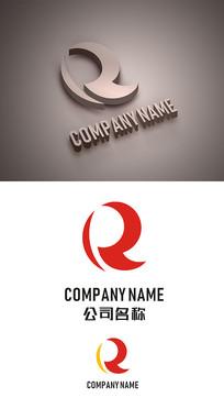 R字母标志LOGO设计