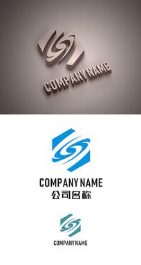S字母标志LOGO设计