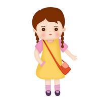 上学的小女孩