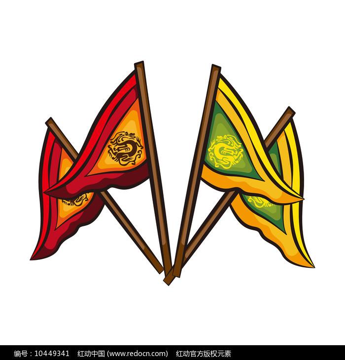 原创元素-古代旗帜元素图片