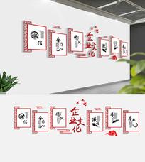 3D企业励志标语文化墙