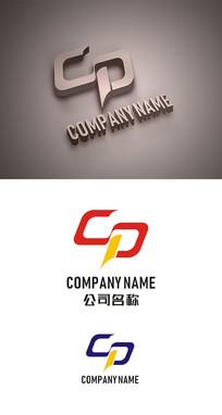 CP字母标志LOGO设计 CDR