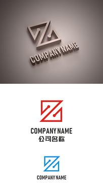 Z字母标志LOGO设计 CDR