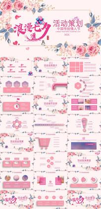 粉色七夕情人节活动策划PPT模板