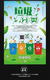 垃圾分類愛護環境公益海報