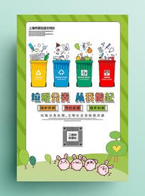 绿色垃圾分类海报