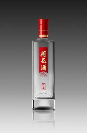 荷花酒酒瓶效果图设计