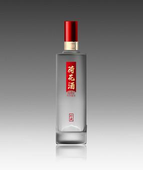 荷花酒磨砂酒瓶效果图设计