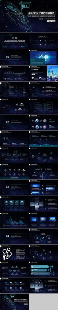 互联网大会科技高峰论坛大气路演商务PPT
