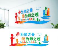 教师老师校园文化墙设计