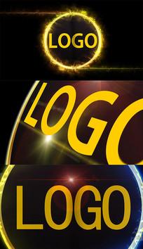 酷炫金属粒子火焰logo转场视频模板