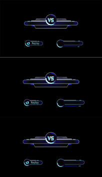 蓝色科技感体育游戏比赛字幕条视频模板