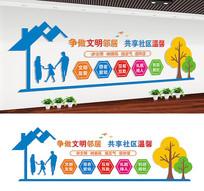 社区宣传标语文化墙设计