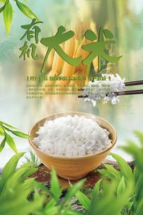 有机大米绿色食品海报