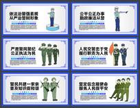 2019年简约警营文化文化标语展板