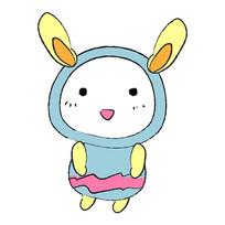 古怪卡通兔子