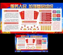 加强基层组织服务人民党建展板