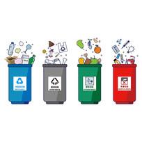 垃圾桶垃圾分类(AI智能图层)
