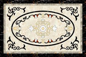 简约欧式大理石纹石材拼花图案