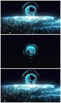 蓝色科技地球片头视频模板
