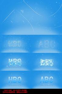 蓝色科技感互联网点线logo演绎文字视频模板
