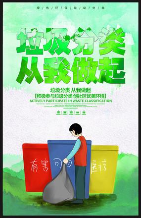 绿色垃圾分类海报设计