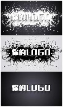 水墨绽放logo视频模板