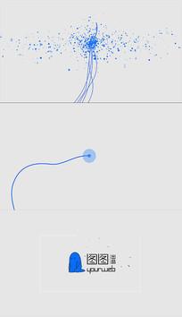 通用简约线条粒子星空MGlogo演绎视频模板
