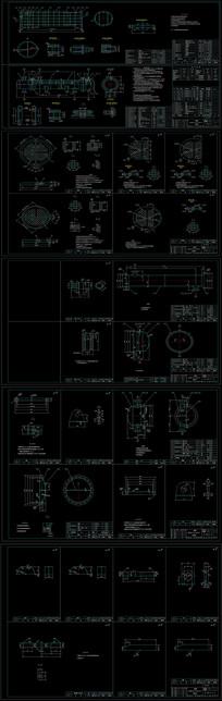 CAD浮头式换热器装配图