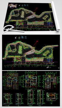 CAD全套别墅建筑设计图 CAD