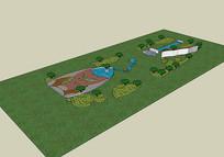 公园景观3d模型设计素材